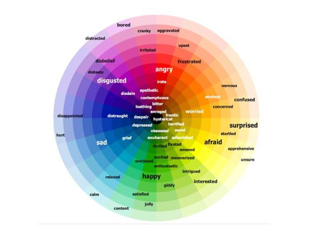 Emotions and feelings wheel