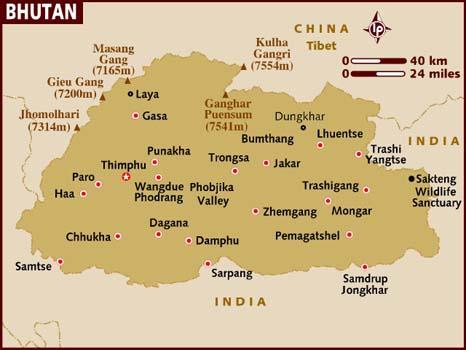 map_of_bhutan