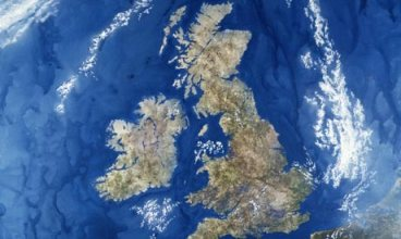 Satellite view of UK