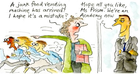 Will academies be more likely to serve up junk food to pupils?