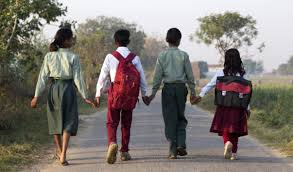 children on road