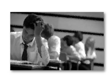 Stressed pupils