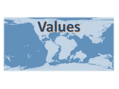 Values and world map