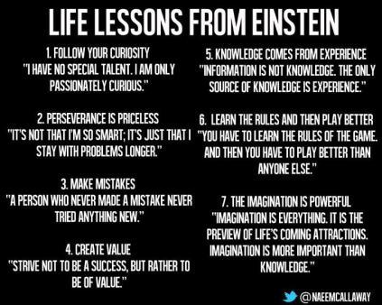 Life lessons Einstein