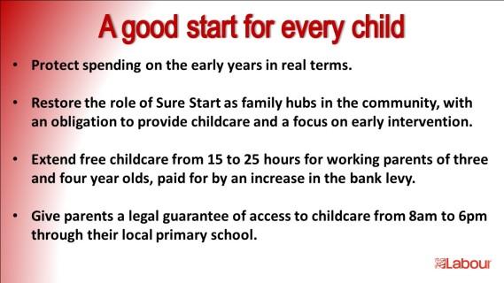 Good start pledge Labour