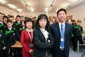 chinese school teachers and pupils