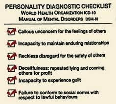 psychopath WHO descriptors