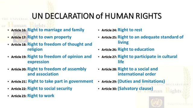 UN DECLARATION of HUMAN RIGHTS v2
