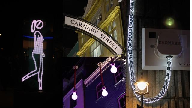 ©3Di Associates Photography Shaida Walking by Julian Opie on Carnaby Street