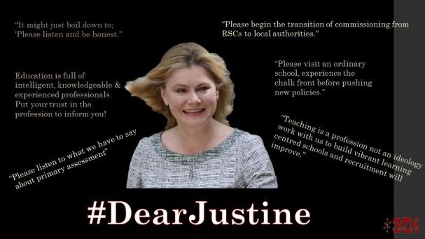 Dear Justine. 1st slide