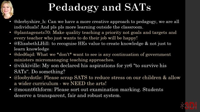 Pedagogy and SATS