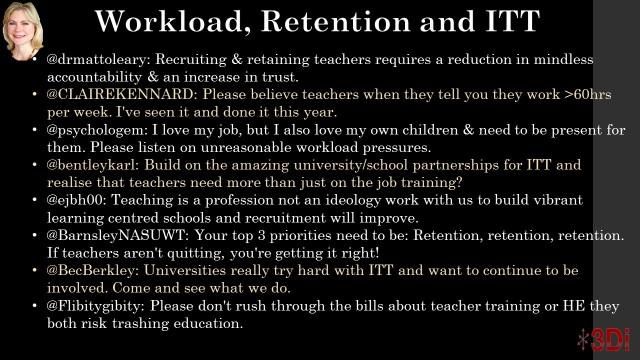 Workload, retention